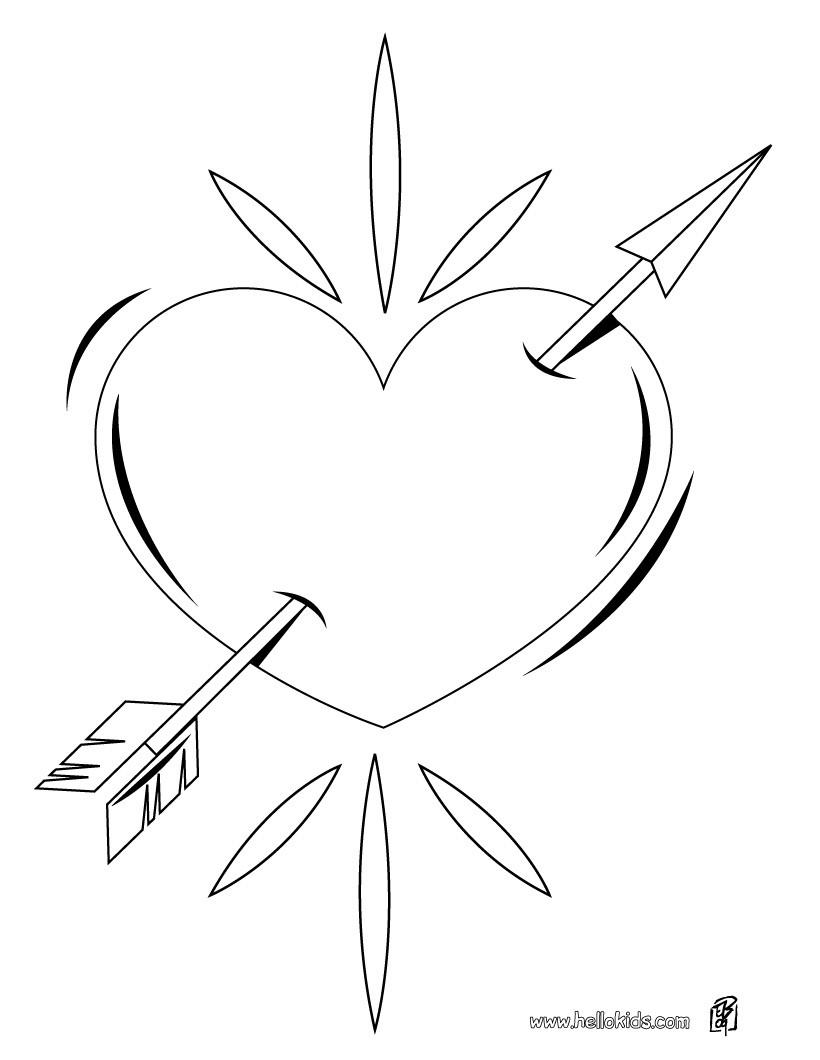 Ausmalbilder Herz Mit Pfeil ~ Die Beste Idee Zum Ausmalen von Seiten