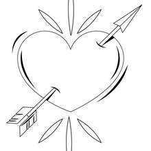 Herz mit Pfeil zum Ausmalen