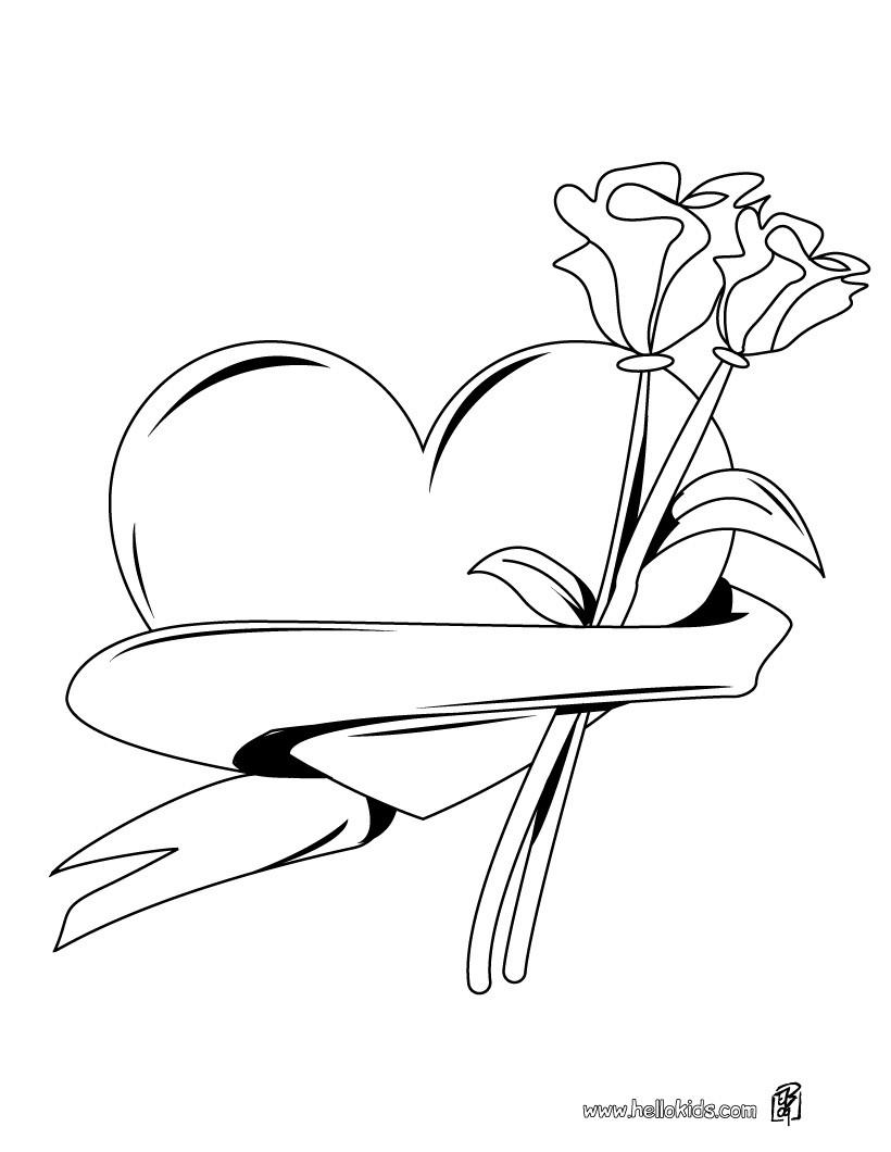 Valentinstag herzen zum ausmalen zum ausmalen - de.hellokids.com