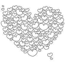 Valentinstag Herzen zum Ausmalen