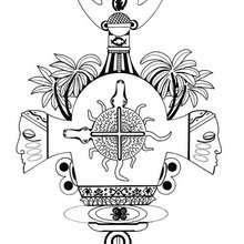 Afrikanisches Ashanti Mandala