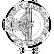 Assyrischer Flügelkreis Mandala