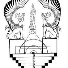 Ägyptische Sphinx Mandala