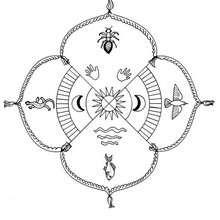 Indianer Mandala