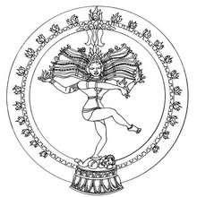 Indischer Shiva Tanz Mandala