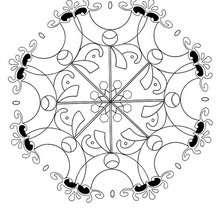 Türkisches Blumen Mandala