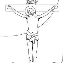 Kreuzigung zum Ausmalen