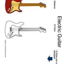 Elektrische Gitarre zum Ausmalen