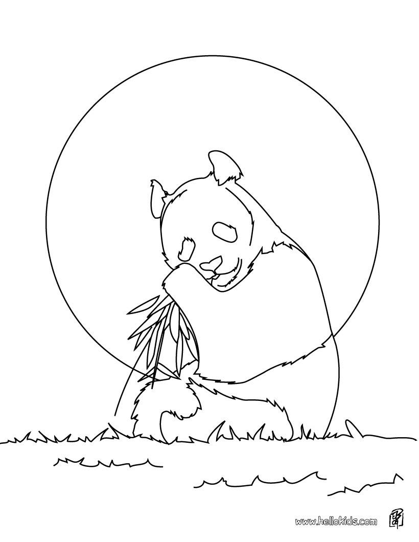 Süßer panda zum ausmalen zum ausmalen - de.hellokids.com