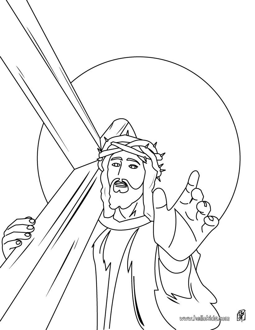 Gemütlich Malvorlage Von Jesus Am Kreuz Fotos - Entry Level Resume ...