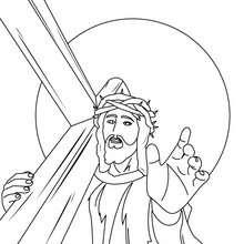 Jesus und Kreuz zum Ausmalen