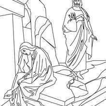 Jesus Christus und Maria Magdalena zum Ausmalen