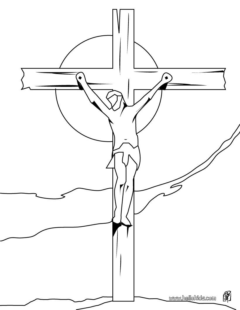 Jesus und kreuz zum ausmalen zum ausmalen - de.hellokids.com