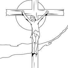 Der gekreuzigte Jesus zum Ausmalen