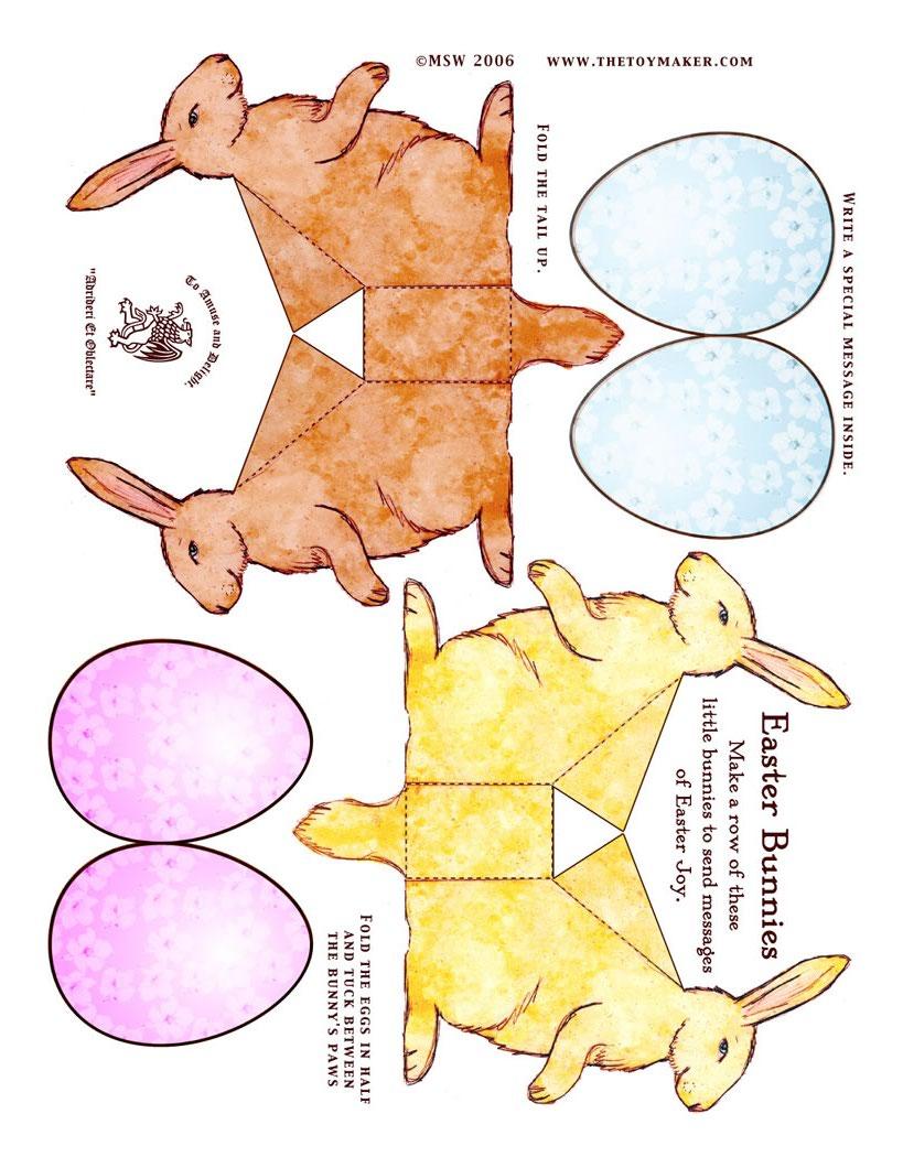 Osterhasen Papierspielzeug