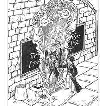 Harry Potter and the magic mirror coloring page - Coloring page - MOVIE coloring pages - HARRY POTTER coloring pages - HARRY POTTER printables