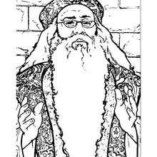 Albus Dumbledore zum Ausmalen