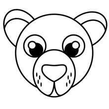 Bär zum Ausmalen
