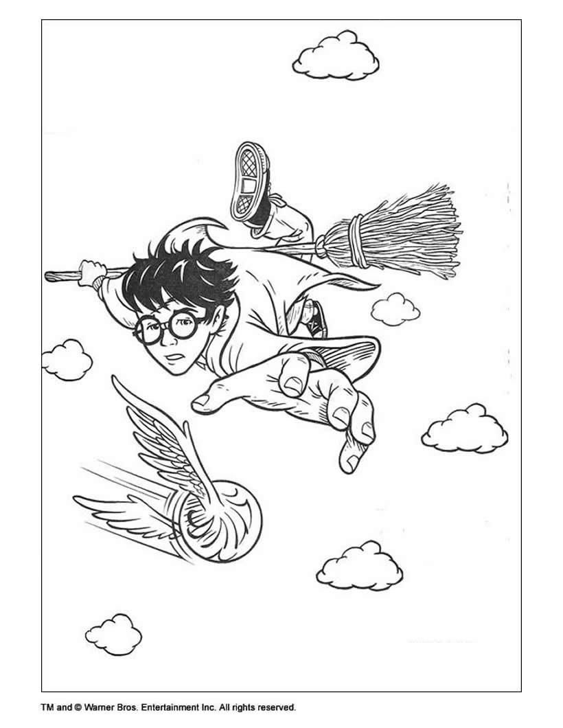 Harry potter fliegt zum ausmalen zum ausmalen  dehellokidscom