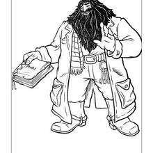 Rubeus Hagrid zum Ausmalen