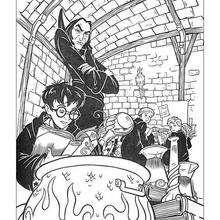 Harry Potter im Klassenzimmer zum Ausmalen