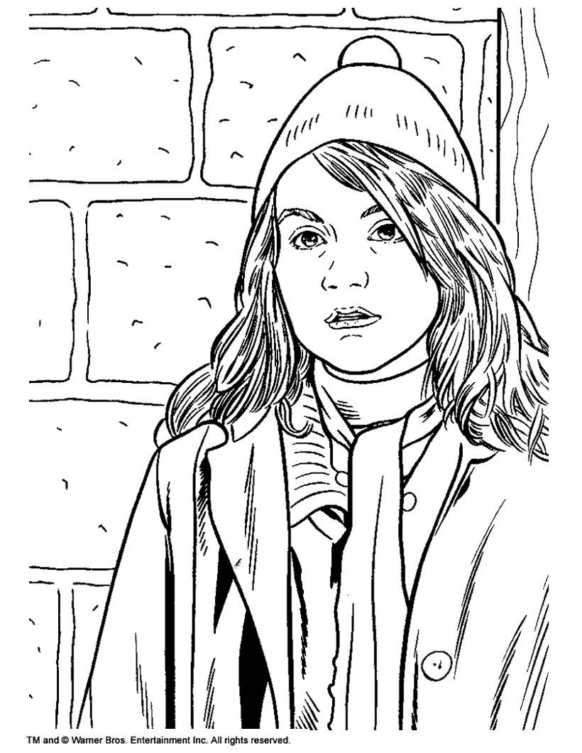 Coloring Pages For Universal Studios : Hermione granger zum ausmalen de hellokids