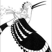 Kiriku mit Vogel zum Ausmalen