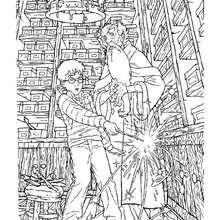 Albus Dumbledore und Harry Potter zum Ausmalen