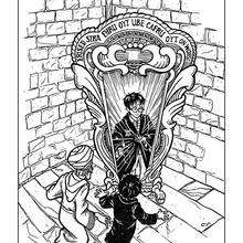 Harry Potter and mirror coloring page - Coloring page - MOVIE coloring pages - HARRY POTTER coloring pages - HARRY POTTER printables