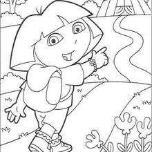 Dora und der Zirkus zum Ausmalen