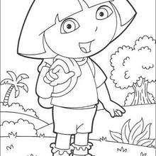 Dora macht Urlaub zum Ausmalen