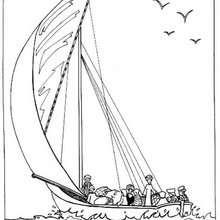Ägyptisches Boot zum Ausmalen