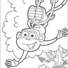 Boots der Affe ist glücklich zum Ausmalen