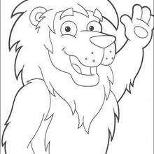 Löwe der König zum Ausmalen