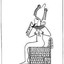 Osiris zum Ausmalen