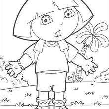 Überraschte Dora zum Ausmalen