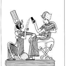 Tutanchamun zum Ausmalen