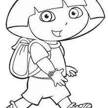 Dora wandert zum Ausmalen