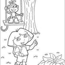 Dora und Boots zum Ausmalen