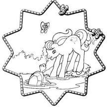 Mein kleines Pony und Schildkröte zum Ausmalen