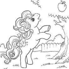 Mein kleines Pony und Apfelbaum zum Ausmalen