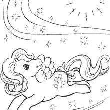 Mein kleines Pony in einer Zauberwelt zum Ausmalen