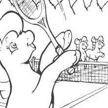 Mein kleines Pony spielt Tennis zum Ausmalen
