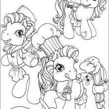 Ponyköche zum Ausmalen