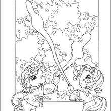Ponys Kunstgalerie zum Ausmalen