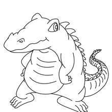 Süßes Krokodil zum Ausmalen