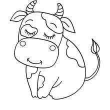 Kuh zum Ausmalen