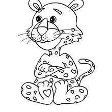 Leopard zum Ausmalen