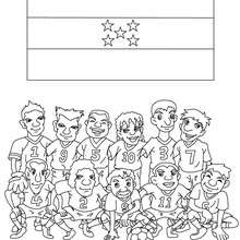 Team of Honduras coloring page - Coloring page - SPORT coloring pages - FIFA WORLD CUP SOCCER 2010 coloring pages - SOCCER TEAMS coloring pages