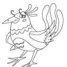 Vogel Bild zum Ausmalen